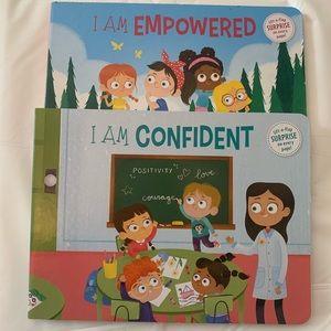 4 / $35 - 2 NEW Little Girls' Confidence & Empowerment Board Books -BKN1